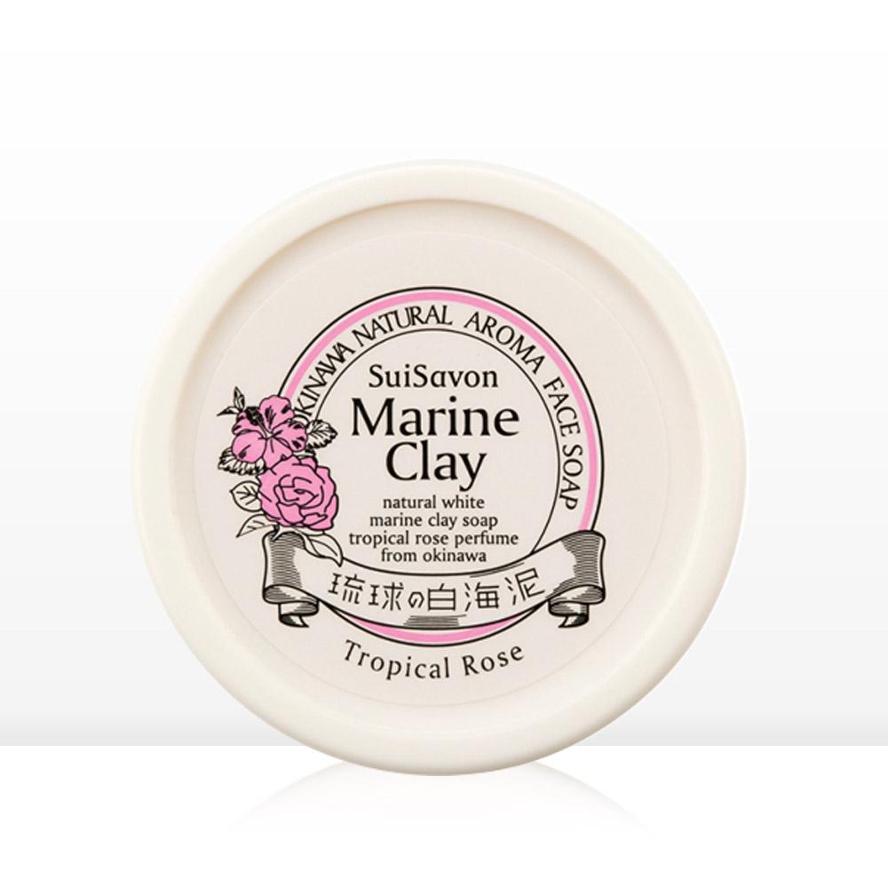沖繩首里石鹼 琉球白海泥 雙效面膜洗顏霜-熱帶玫瑰130g(原廠授權銷售)
